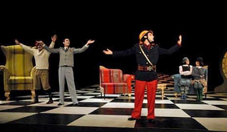 Beba 021/ Srpsko narodno pozorište, Novi Sad, Srbija, Eugène Ionesco, Ćelava pjevačica, red. Beba Balašević