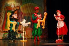 GK Žar ptica: Gianni Rodari, Čipolino, red. Mario Kovač; Asja Jovanović (Grofica Trešnja), Drago Utješanović (Sinjor Pomidor) i Ana-Marija Bokor (Jagodica)