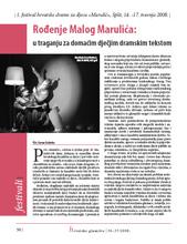 Hrvatsko glumište, br. 36-37/2008, str. 50