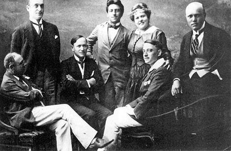 Ignjat Borštnik, Ivan Levar, Rudolf Bukšek, Josip Rijavec, Irma Polak, Hinko Nučić, Josip Križaj – slovenski glumci i pjevači u HNK Zagreb, 1916.